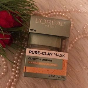 New!  Loreal pure clay mask